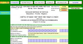 Mẫu đơn đề nghị cấp chứng từ khấu trừ thuế TNCN