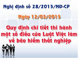 Nghị định 28/2015/NĐ-CP về Bảo hiểm thất nghiệp
