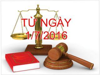 Những thay đổi quan trọng về chính sách thuế và quản lý thuế từ 01/07/2016